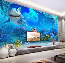 Custom 3d Foto Behang Kinderkamer 3d Muurschildering Zee Wereld