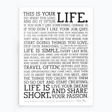 Live A Light On Traduzione The Holstee Manifesto This Is Your Life Holstee