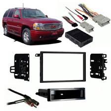 fits gmc yukon denali 03 06 double din stereo harness radio  at All Wiring Harness For 2006 Gmc Yukon Denali