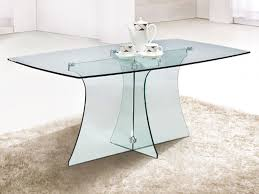 clear glass furniture. Clear Glass Furniture. Outstanding Serene Rectangular Dining Table Design White Rugs And Wall Furniture L