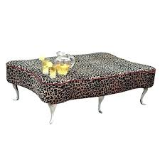 leopard ottoman coffee table area of a print