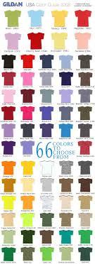 High Quality Gildan T Shirt Color Chart The Biz Shirts