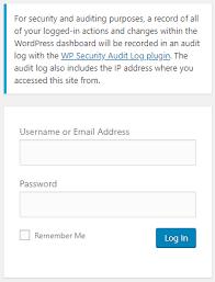 Adding a WordPress login page notification   WP Security Audit Log