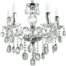 venice 5 light polished chrome chandelier