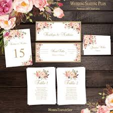 How To Make A Wedding Seating Chart Wedding Seating Chart Set Romantic Blossoms