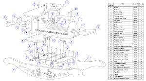 rocking airplane kids toy plan parts list
