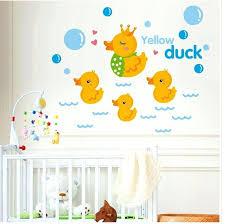 childrens wall stickers yellow duck wall art mural decor sticker kids room nursery wall applique poster