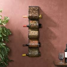 Grapes And Wine Kitchen Decor Wall Mounted Metal Wine Rack Decorative Furniture Grape Leaves