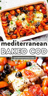 Mediterranean Baked Cod Recipe in 2020 ...