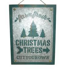 maker u0027s holiday wall decor green farm fresh trees