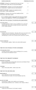 Restaurant Manager Review Forms Cook Evaluation Form Chefs Resources