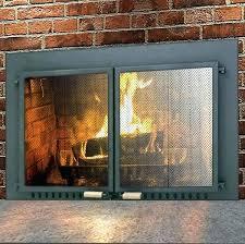 cleaning glass fireplace doors airtight fireplace doors supreme air seal fireplace door in black airtight gas