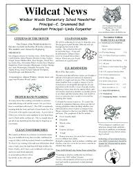 Elementary Newsletter Template Dancarlyle Me