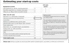 startup costs business start up costs calculator for excel excel templates