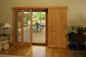 plantation shutters for sliding doors stained wood shutters over slider doors plantation shutters sliding glass doors