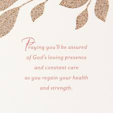Get Well Card Pink Flower God Is With You Religious Get Well Card