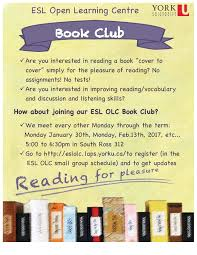 interested in improving reading vocabulary and discussion and revised 2017 winter esl olc book club poster