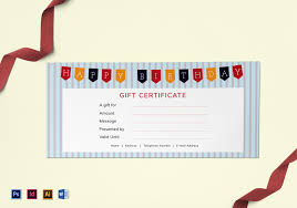 Birthday Gift Coupon Template Happy Birthday Gift Certificate Design Template in PSD Word 1