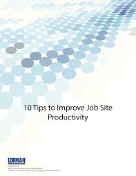 tips to improve job site productivity white paper lorman agenda