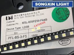 Uni Light Led Ltd Us 38 95 5 Off 2000pcs For Uni 3537 3535 1w Led Chip 2 90lm Cool White Lcd Backlight For Tv Application High Power Led 3v In Light Beads From Lights