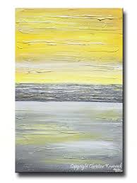 trendy inspiration yellow wall art giclee print abstract grey painting vertical canvas prints urban gold white