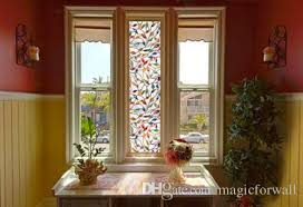 window applique 3d tree branches leaves stained glass static cling window for bathroom frosted