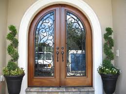 wonderful wood front doors with glass and wrought iron 77 about inside plans 1