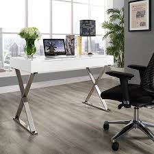 Image Glass Top Modway Sector Office Desk With Stainless Steel Frame Multiple Colors Walmartcom Walmart Modway Sector Office Desk With Stainless Steel Frame Multiple