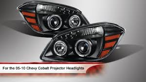 05-10 Chevy Cobalt Halo Projector Headlights - YouTube