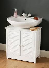 bathroom storage under pedestal sink