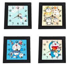 Đồng hồ treo tường doremon dạng khung ảnh 13x13 cm DHTI24 đồng hồ cute dễ  thương - Đồng hồ treo tường điện Thương hiệu No Brand