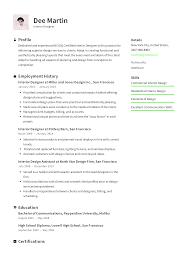 Electrical Designer Resume Example Interior Designer Resume Templates 2020 Free Download