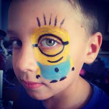 Easy Halloween Face Painting Designs Despicable Me Minion Face Painting Minion Face Paint