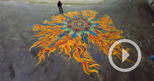 new time lapse s of spontaneous sand paintings by joe mangrum colossal