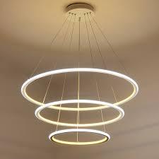 adjustable lighting fixtures. Modern LED Circle Ring Pendant Chandelier Lights For Living Room Dining Indoor Adjustable Lighting Fixtures H