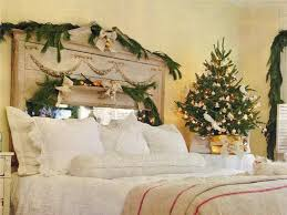 Decorations. Cheap Christamas Decoration On Bedroom With Garlands And Chic  Xmas Tree Interior Xmas Decoration