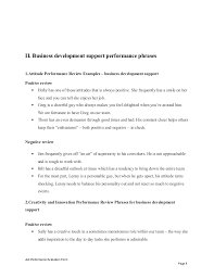 business development support performance appraisal  evaluation form page 7 8
