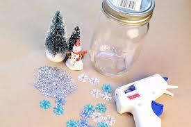 diy how to make mason jar snow globes
