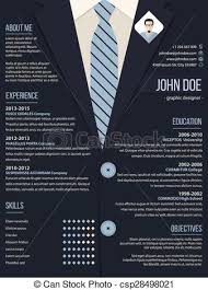 Cool Resume Cv Template With Business Suit Background Cool Resume Beauteous Resume Background
