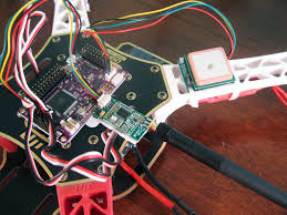 upgrading my quadcopter from kk to apm quadcopter garage arduflyer telemetry and gps installed close up