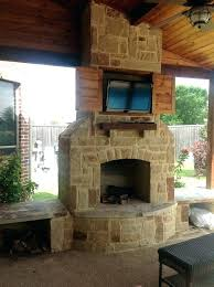 outdoor fireplace with tv outdoor fireplaces with stone fireplace with custom cutout for a and cedar outdoor fireplace with tv