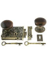 antique door knobs reproduction. Reproduction Antique Door Knobs Rim Locks Brass Ornate Lock Set With Swirl Brown E