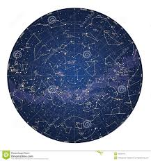 Star Charts For Southern Hemisphere High Detailed Sky Map Of Southern Hemisphere With Names Of