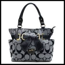 You Can Enjoy Wonderful Life With The Best Coach Poppy Bowknot Signature  Medium Coffee Totes ANA!