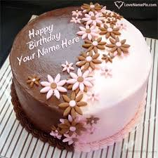 Happy Birthday Chocolate Cake Images With Name Editor Online Food