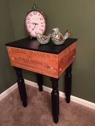 wine crate furniture. made a side table from an old wine crate furniture
