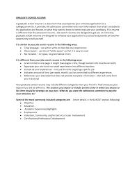 Resume Sample For Admission To Graduate School Fresh Graduate School
