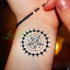 Vodotěsný Dočasné Tetování Nálepka Black Butler Smlouvy Symbol