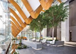 telus garden offices office mcfarlane. The Glulam Arcs Continue Within Lobby, Which Includes A Water Feature That Links It Telus Garden Offices Office Mcfarlane T