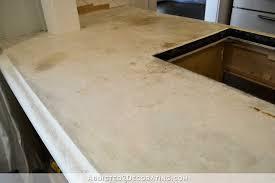 Thinset Concrete Countertops Refinishing My Concrete Kitchen Countertops Part 1